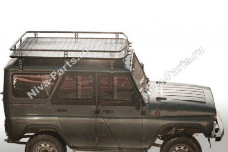 Багажник экспедиционный с алюминиевым листом, УАЗ HUNTER