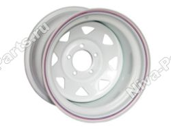 Диск штампованный стальной R16 (белый)